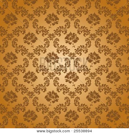 seamless damask pattern, vector