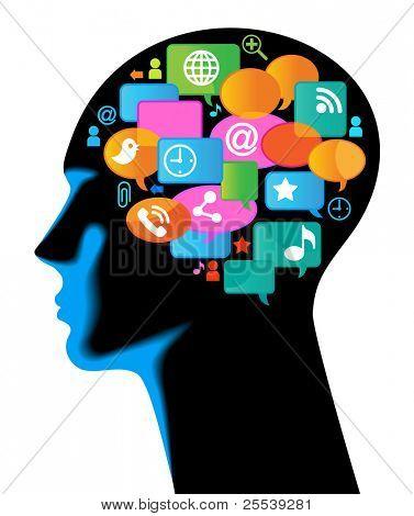 媒体-人权-mobile.The 发展的全球通信。在移动通信和互联网 ne