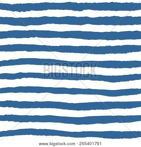 Tile Vector Pattern With Blue And White Stripes