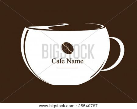 Vector. Coffee cup. Design for coffee house.