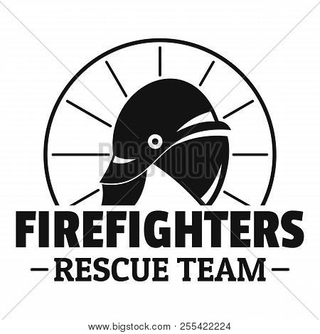 Firefighters Rescue Team Logo. Simple Illustration Of Firefighters Rescue Team Logo For Web Design I