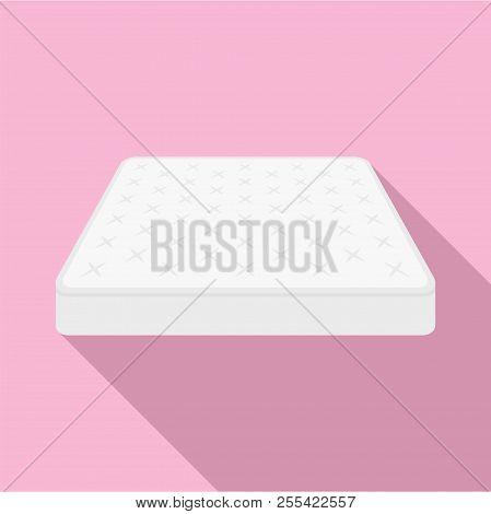 King Size Mattress Icon. Flat Illustration Of King Size Mattress Icon For Web Design