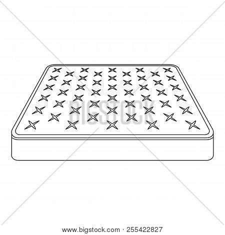 King Size Mattress Icon. Outline King Size Mattress Icon For Web Design Isolated On White Background