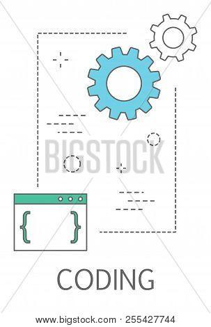 Coding Concept Illustration. Programming And Web Design
