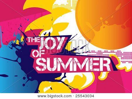 Mooie zomer poster. Vectorillustratie.