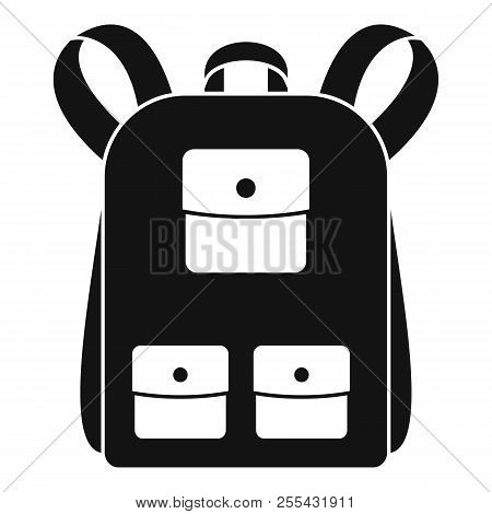 Traditional Backpack Icon. Simple Illustration Of Traditional Backpack Icon For Web Design Isolated