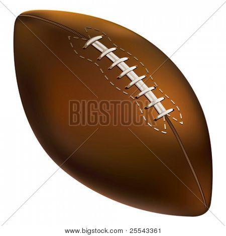 isolierte amerikanischen Fußball Ball. Vektor-Illustration.