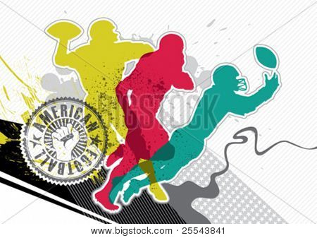 Designed american football banner with abstraction. Vector illustration.
