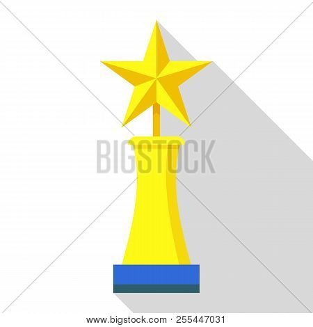 Competition Trophy Icon. Flat Illustration Of Competition Trophy Icon For Web