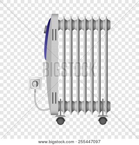 Portable Heater Mockup. Realistic Illustration Of Portable Heater Mockup For On Transparent Backgrou
