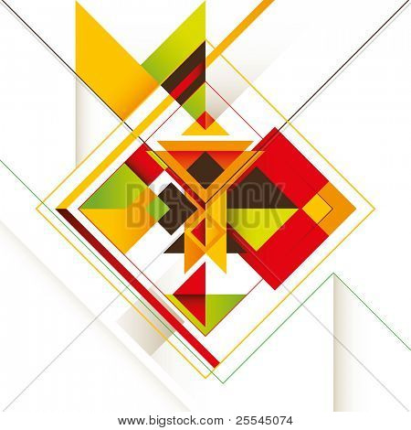 Creative composition with colorful abstract shapes. Vector illustration. poster