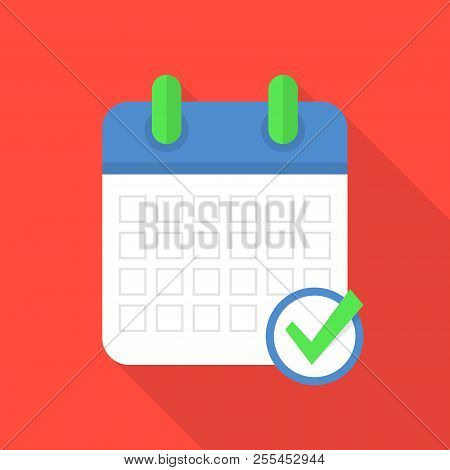 Event Calendar Icon. Flat Illustration Of Event Calendar Icon For Web