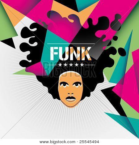Designed funk background in color. Vector illustration.