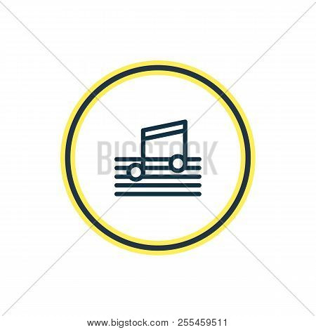 Vector Illustration Of Music Icon Line. Beautiful Party Element Also Can Be Used As Quaver Icon Elem