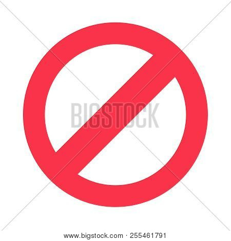 Stop Sign Symbol. Warning Stopping Icon, Prohibitory Character Or Traffic Stops Signal Isolated Vect
