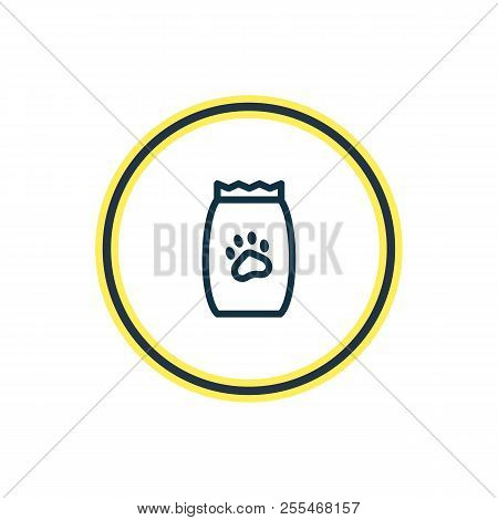 Vector illustration of pet food icon line. Beautiful zoo element also can be used as kibble icon element. poster