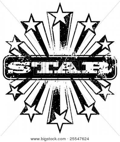 Shooting star banner. Vector illustration.