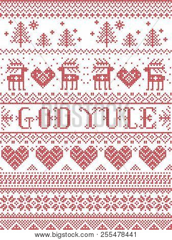 Merry Christmas In Norwegian.Christmas Pattern Vector Photo Free Trial Bigstock