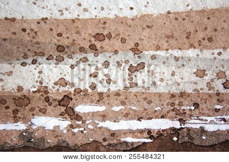 Brown and White Watercolour Background
