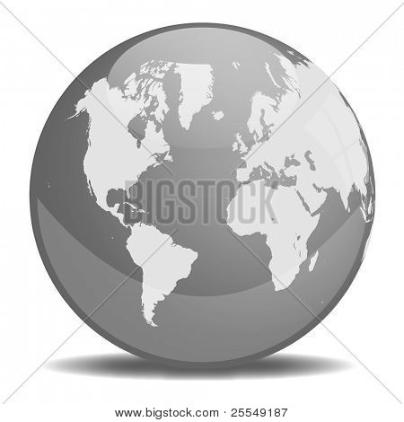 Grayscale Earth Orb