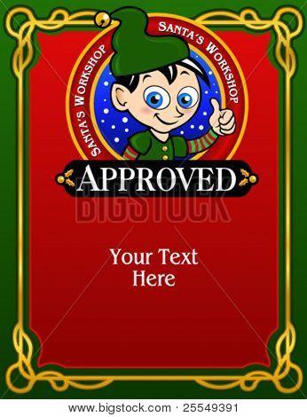 Santa's Elf Approval Card / Diploma