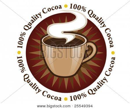 100% Quality Cocoa Seal / Mark / Icon