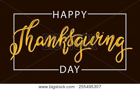 Happy Thanksgiving Day Typography Vector Design  On A Black Background Design Template Celebration.