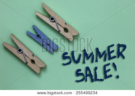 Conceptual Hand Writing Showing Summer Sale. Business Photo Showcasing Annual Discount Events That T