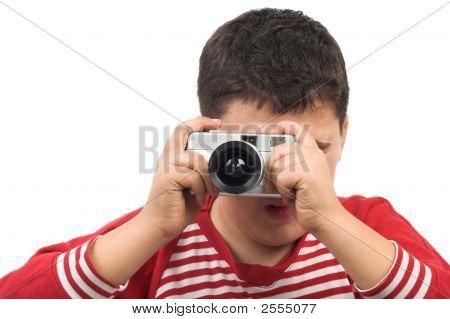 Boy Taking Bild
