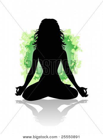 Йога женщина силуэт