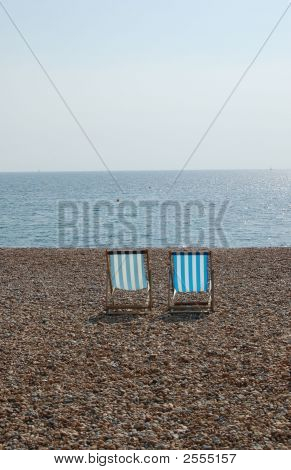 Deck Chairs On The Brighton Beach