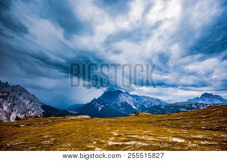 Storm clouds Italy Dolomites