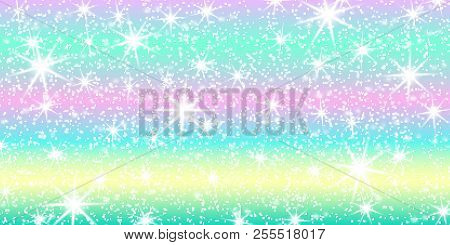 The unicorn pattern in pastel color. Bright mermaid pattern. Vector