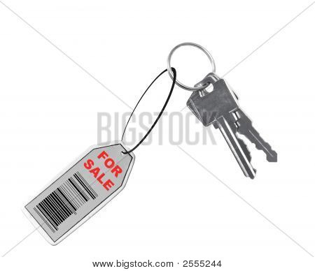 Car For Sale With Barcode On Tag