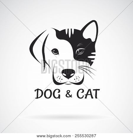 Vector Of Dog And Cat Face Design On A White Background. Pet. Animal. Easy Editable Layered Vector I