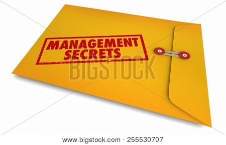 Management Secrets Managing Business Advice 3d Illustration