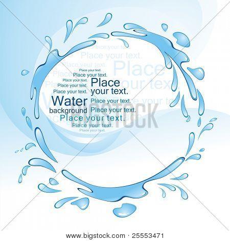 Water splash. (vector illustration)