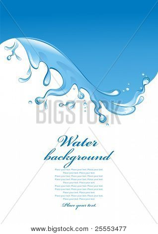 Water background. Splash. (vector illustration)