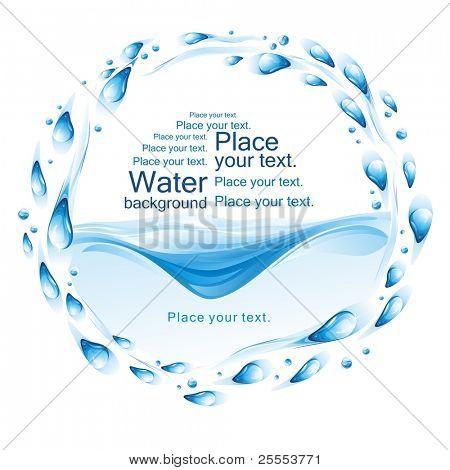 Water frame. (vector illustration)