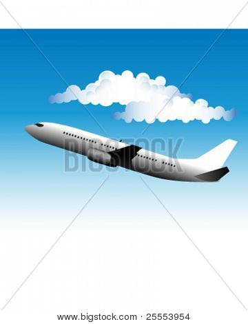 Illustration of an airliner in the sky