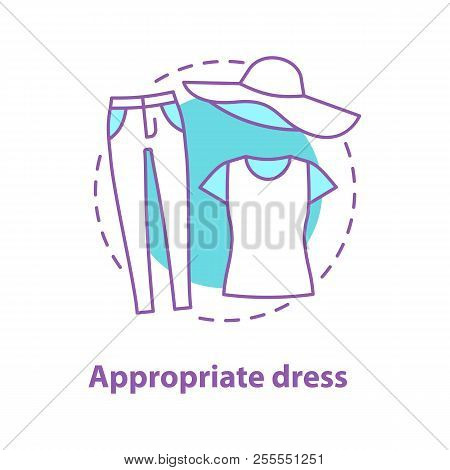 Casual Style Concept Icon. Appropriate Dress Idea Thin Line Illustration. Comfort Clothes. Jeans, T-