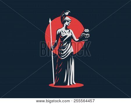 Goddess Athena Holds Vector Photo Free Trial Bigstock