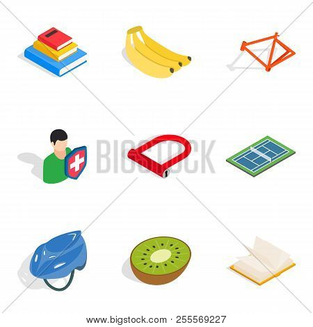 Lifespan Icons Set. Isometric Set Of 9 Lifespan Icons For Web Isolated On White Background