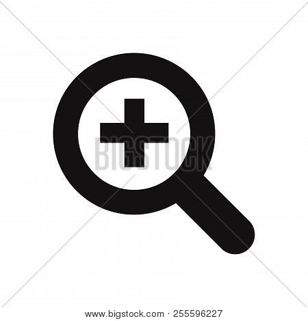 Zoom In Icon Isolated On White Background. Zoom In Icon In Trendy Design Style. Zoom In Vector Icon