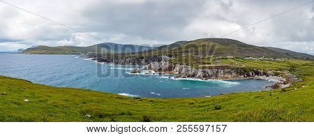 A Panoramic View Of A Lovely Bay At Achill Island, County Mayo, Ireland.