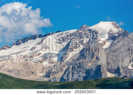 Marmolada Named As The Queen Of The Dolomites Is A Mountainous Mountain Group Of The Alps, The Highe