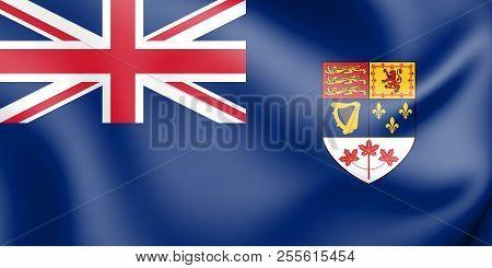 3D Canadian Blue Ensign (1957-1965). 3D Illustration. poster