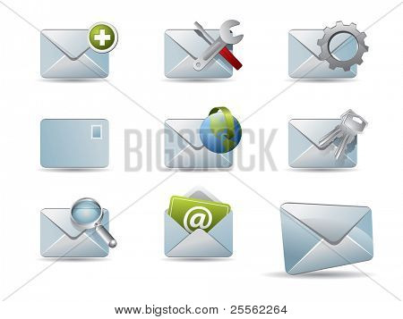 Vector conjunto de iconos de correo