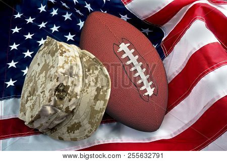 American Football And The Us Military Pride.