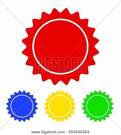 Color Circle Seal Stamp Lace Design, Stock Vector Illustration, Eps 10